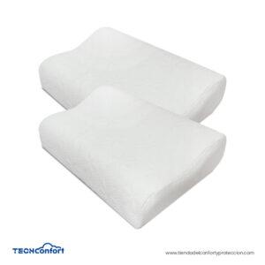Almohada Ortopédica Cervical Espuma Memory Foam Regular X 2 Unidades