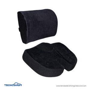 Cojin coxis y soporte lumbar en memory foam con pad ge