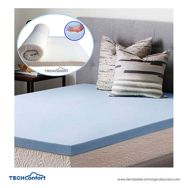 Colchoneta Memory Foam Con Gel Fresco - Viscogel 120x190