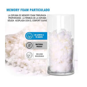 Memory foam particulado